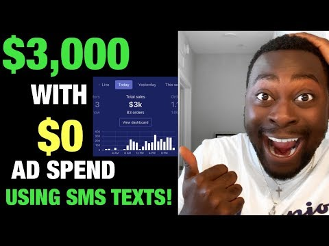 $3,000 on DAY 1 with $0 Ad Spend on my Shopify Dropshipping Store USING SMS BUMP! (SECRET METHOD) thumbnail