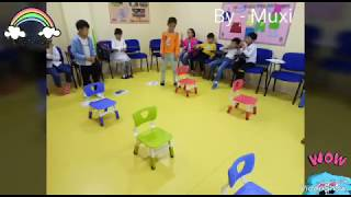 14- Super fun ESL game| ESL parents game |Go around the chairs|  English Teaching Games by Muxi.
