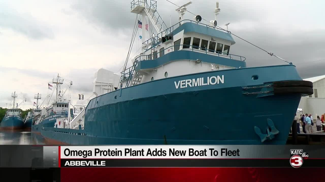 Omega Protein launches largest vessel in Louisiana, F/V Vermilion