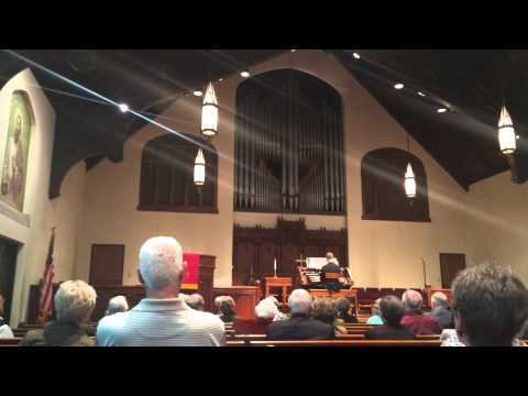 Jonathan Story plays Tu es Petra at First & Calvary Presbyterian