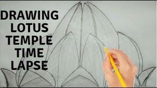 Drawing Lotus Temple .