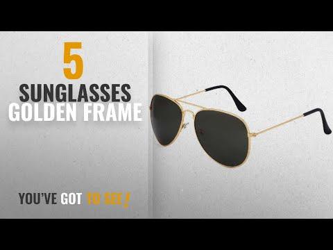 top-10-sunglasses-golden-frame-[2018]:-poloport-golden-frame-aviator-unisex-sunglasses(av020|black)