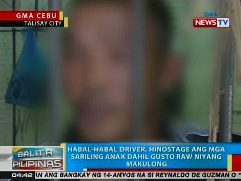 Habal-habal driver sa Talisay City, hinostage ang mga sariling anak dahil gusto raw niyang makulong