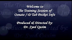 Osnate-D Pocket Info Training by Dr. Syed Qasim