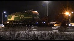 Wrecked Vectron Sr3 3309 on a trailer