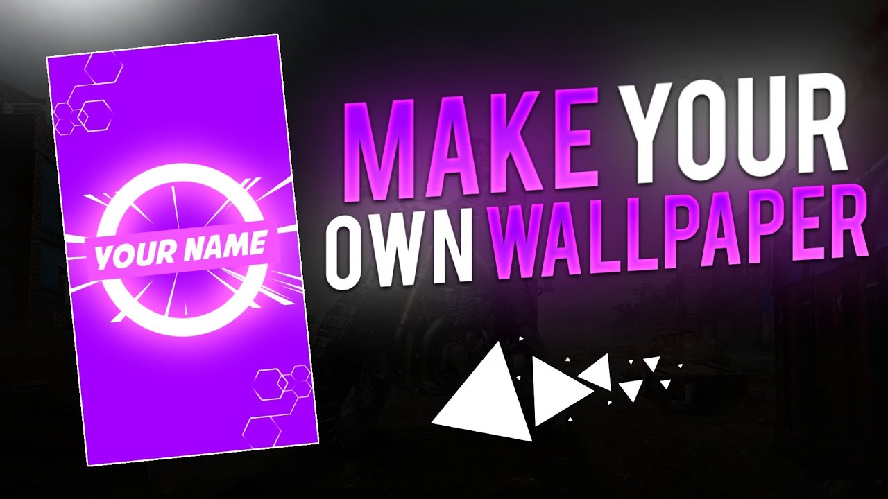 How To Make Your Own Wallpaper Make You Own Wallpaper Make This Cool Wallpaper Tutorial Youtube