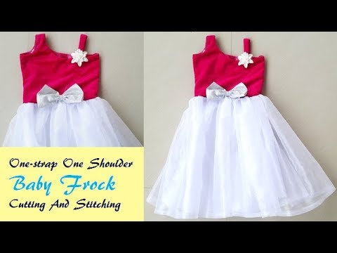 f7f52fcae One- Strap One Shoulder Baby frock Cutting And Stitching by PN'z World