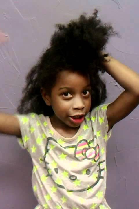 Natural Hair Ponytails For Kids