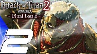 Attack on Titan 2 Final Battle - Gameplay Walkthrough Part 2 - Rod Reiss Titan Fight (PS4 PRO)