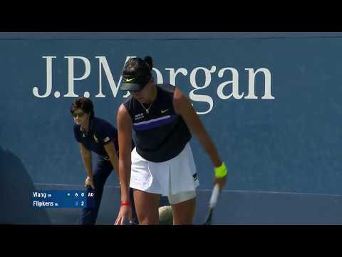 Xiyu Wang Vs. Kirsten Flipkens   US Open 2019 R1 Highlights