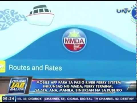 Mobile app para sa Pasig River ferry system, inilunsad ng MMDA