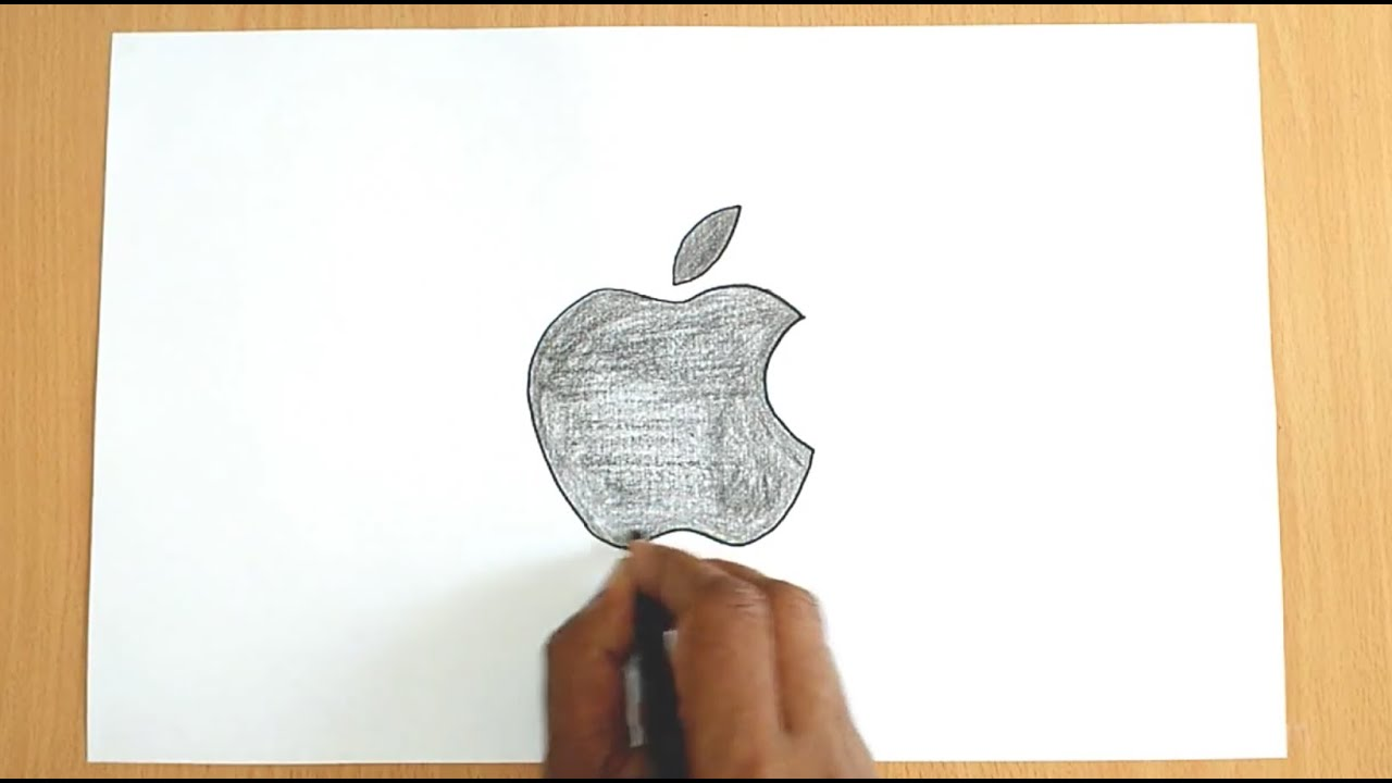 how to draw the apple logo - youtube