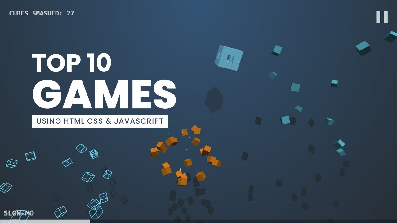 Top 10 Games using HTML CSS and JavaScript From Codepen