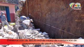 Construcción de muro de contención en Camposanto del Oro