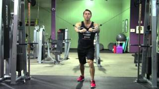 Cable Chest Press - Hasfit Chest Exercise Demonstration - Cable Bench Press - Pectoral Exercises