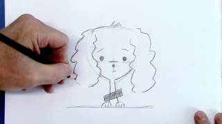How to Draw a Puppy Dog - Poodle - for Beginners