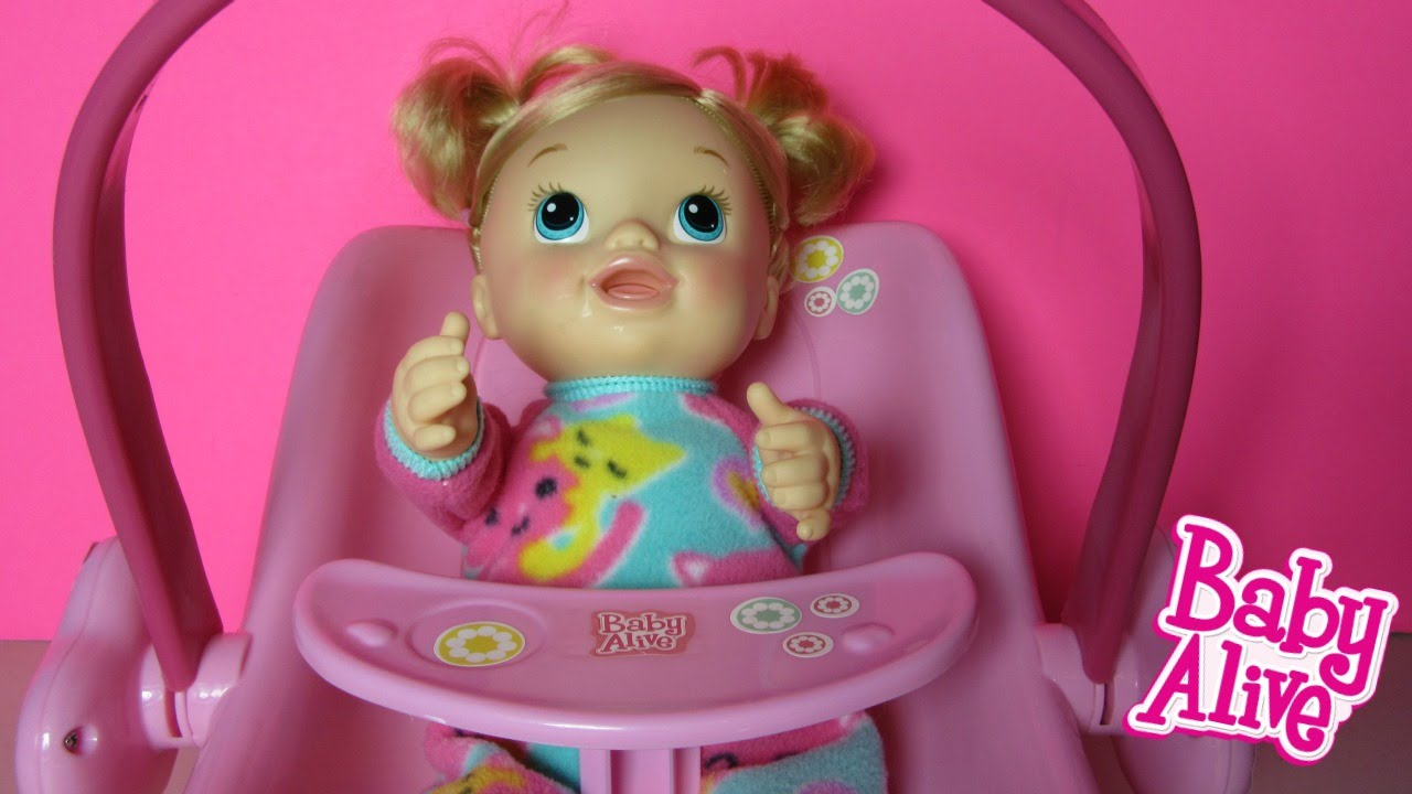 Baby Alive Doll Deluxe 2 In 1 Carrier With Tickles N