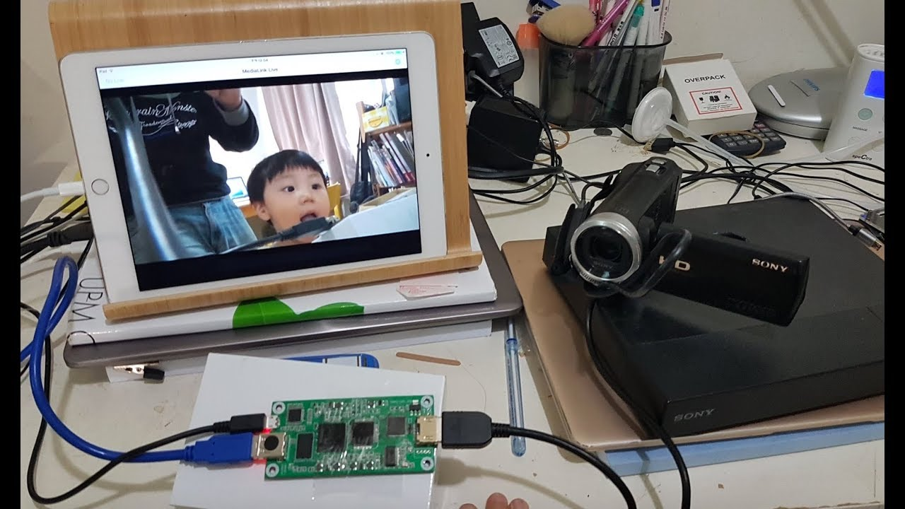 iPad as a TV monitor for DSLR camcorder Blu-Ray player Raspberry PI