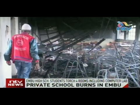 Students in Embu High school torch 4 rooms including computer lab