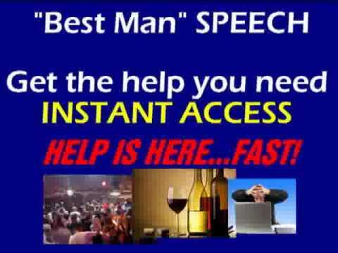 best man speech ideas