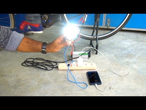 Bicycle Generator - Exercise and Generate Electricity