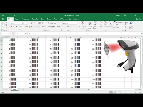 How to Create Number List with Barcode for Inventory Counting