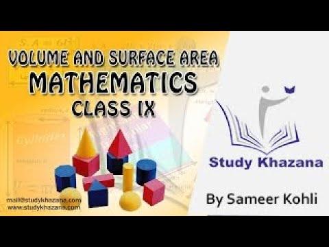 Volume And Surface Area - Class 9 - Mathematics (CBSE) | Study Khazana