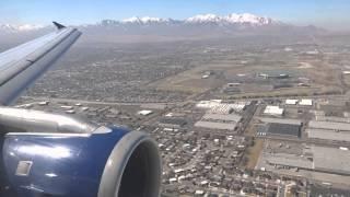 Delta Air Lines A320 - Los Angeles to Salt Lake City landing