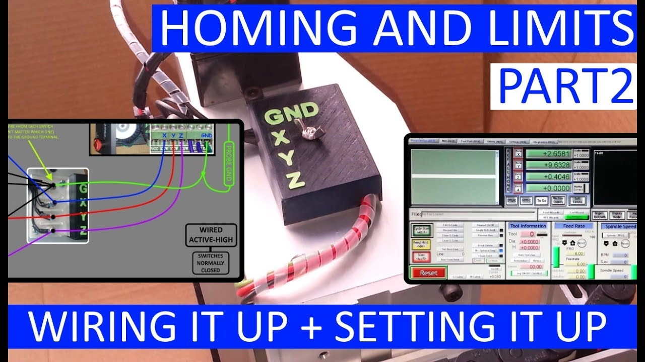 Cnc 3020t  Mach3  U2013 Homing And Limits  U2013 Wiring It Up Part2   Setting It Up