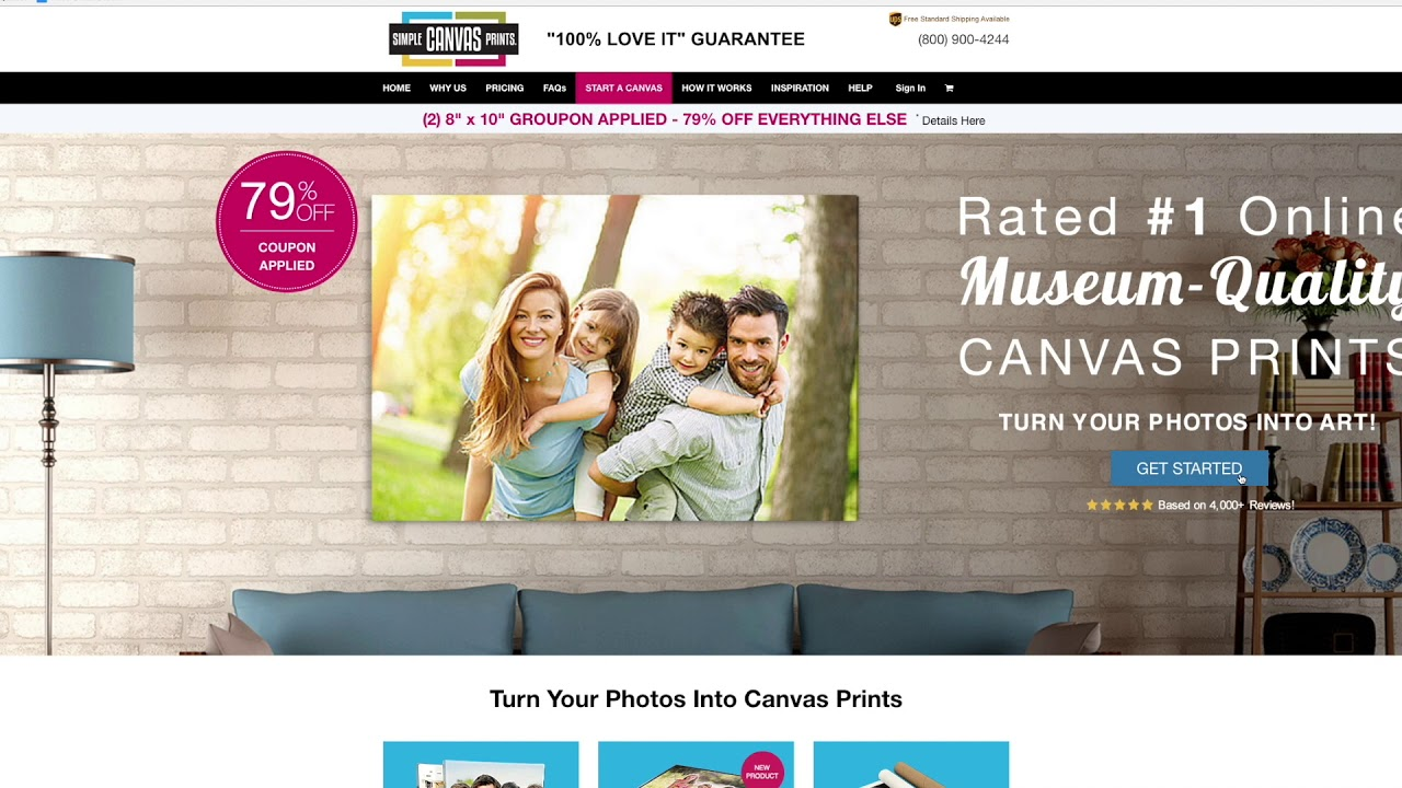 simple canvas prints how to use your deal youtube