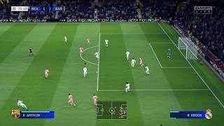FIFA 19 4K HDR - XBOX ONE X - BARCELONA VS REAL MADRID