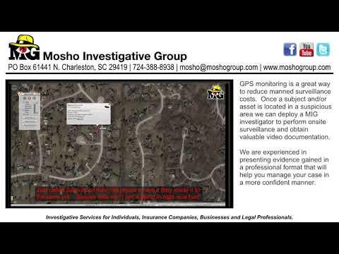 GPS Monitoring - Mosho Investigative Group
