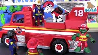 Мультики про Машинки. ПОЖАРНАЯ МАШИНА. Машины для Детей Playmobil #Щенячий Патруль Новые Серии