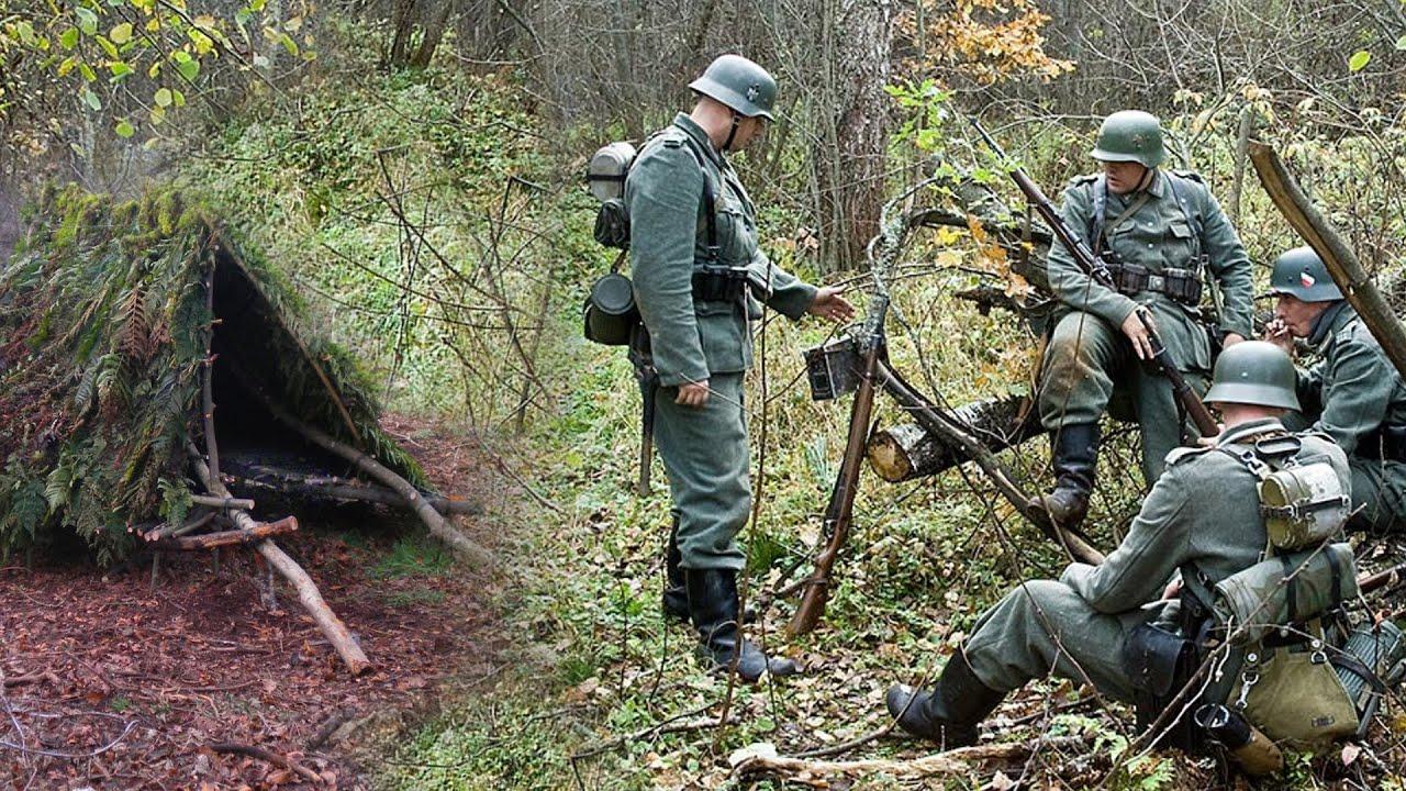 Пьяные немцы жили в шалаше в лесу и потеряли на острове у болота