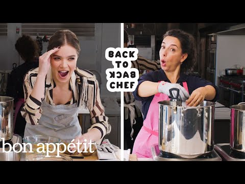 Hailee Steinfeld Tries to Keep Up with a Professional Chef | Back-to-Back Chef | Bon Apptit