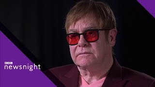 Sir Elton John urges social media boycott over hate speech - BBC Newsnight