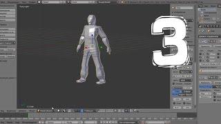 Создание черновой модели персонажа. Уроки по 3D моделированию в Blender.  (Часть 3)