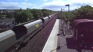 Freightliner 68344 passes Auchinleck on route ot New Cumnock circa 2009