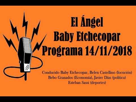 El Ángel con Baby Etchecopar Programa 14/11/2018