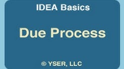 IDEA Basics: Due Process