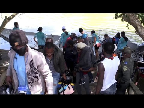 More Haitian migrants willing to face perils at Colombia-Panama border