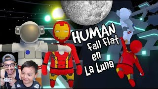 Astronautas en Mundo de Plastilina | En la Luna Human Fall Flat | Juegos Karim Juega