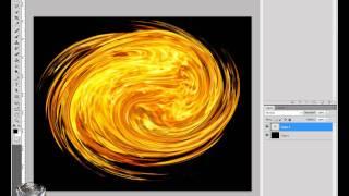como hacer un wallpaper con efecto bola de fuego