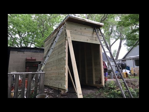 DIY Shed in 4 Days Without Plans: complete build