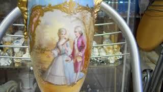 Французская Лиможская ваза в супер состоянии 1920х годов