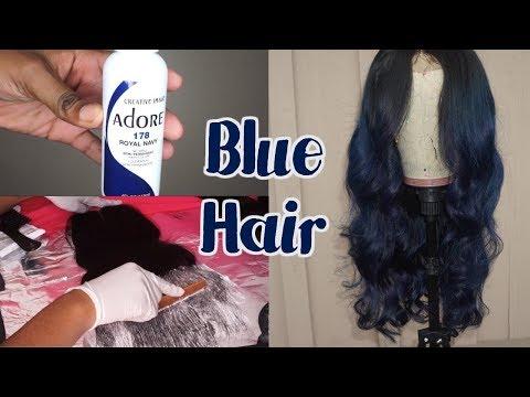 My Hair is BLUE !!!  ft Sunber Hair