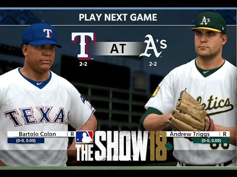 MLB 18 The Show - Texas Rangers Franchise - gms 5-8 vs Oakland Athletics