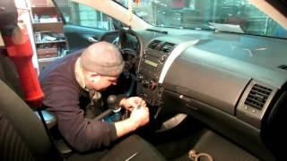 как снять панель приборов/торпеду на Тойота Королла (E150) 2006-2013г.в.