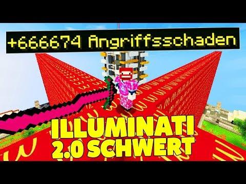 ROTES ILLUMINATI 2.0 SCHWERT CRAFTEN | MCDONALDS LUCKY BLOCKS WALL
