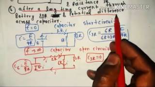 r-c circuit(charging and discharging of capacitor) in hindi